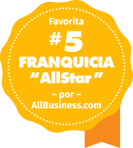 "Voted#5 ""AllStar"" franchise by AllBusiness.com"